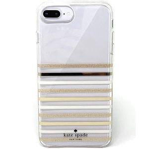 kate spade iPhone 8 Plus Foil Gold Glitter Case